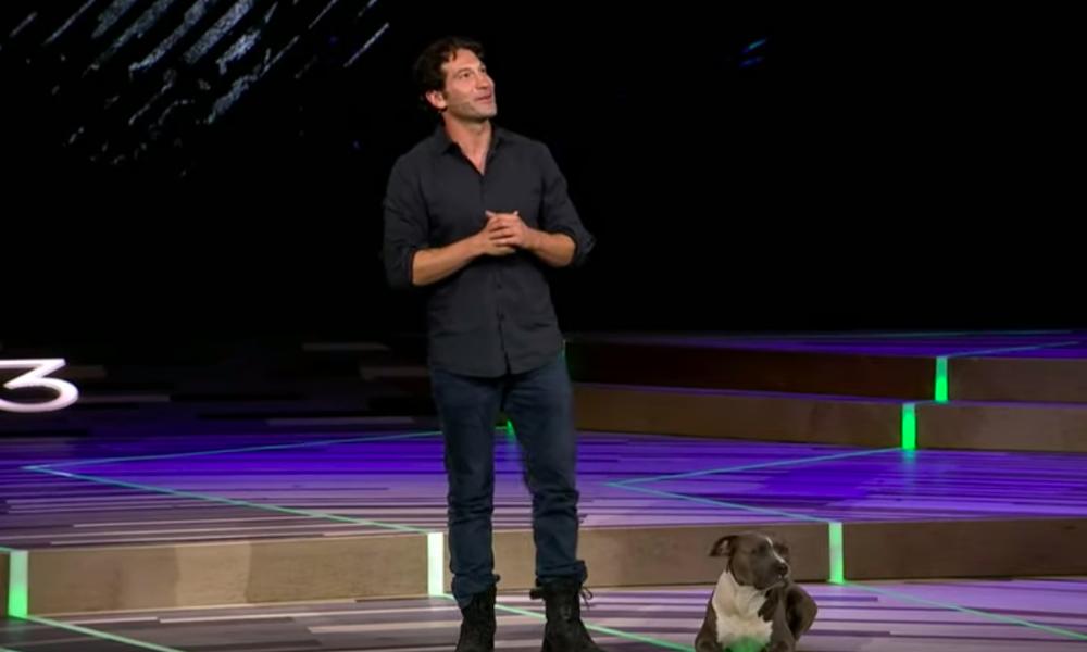 Jon Bernthal and his dog Bam-Bam