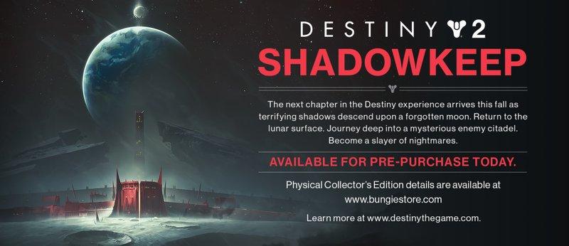 Destiny 2 Shadowkeep announcement