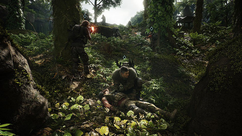 Ghost Recon: Breakpoint Reviving Teammate