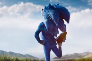 Sonic the Hedgehog stretching